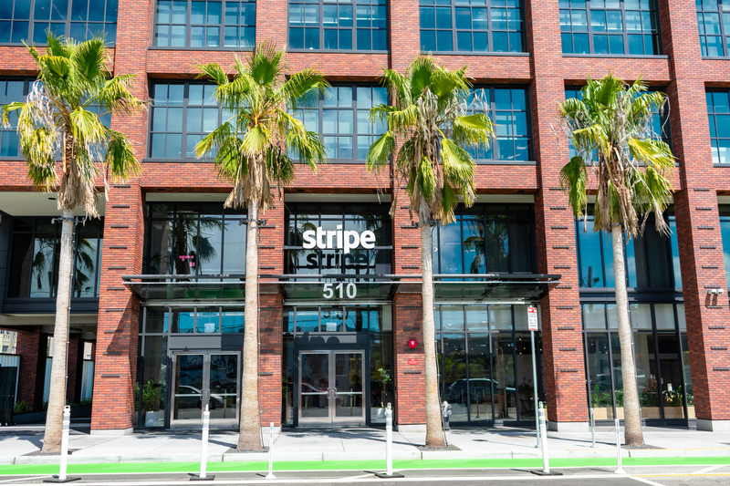 A photo of the Stripe corporate headquarters in California- photo used under licence and permission from Dreamstime
