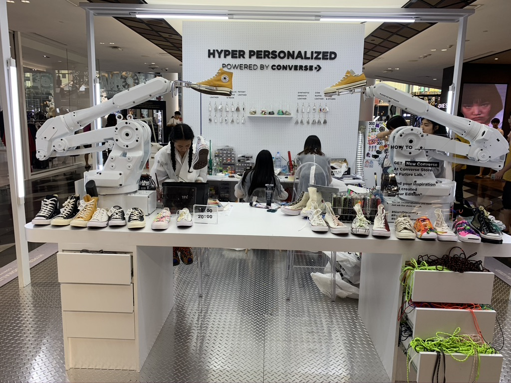 Customization Robotics and AI are all Featured in this Converse Shop in Bangkok