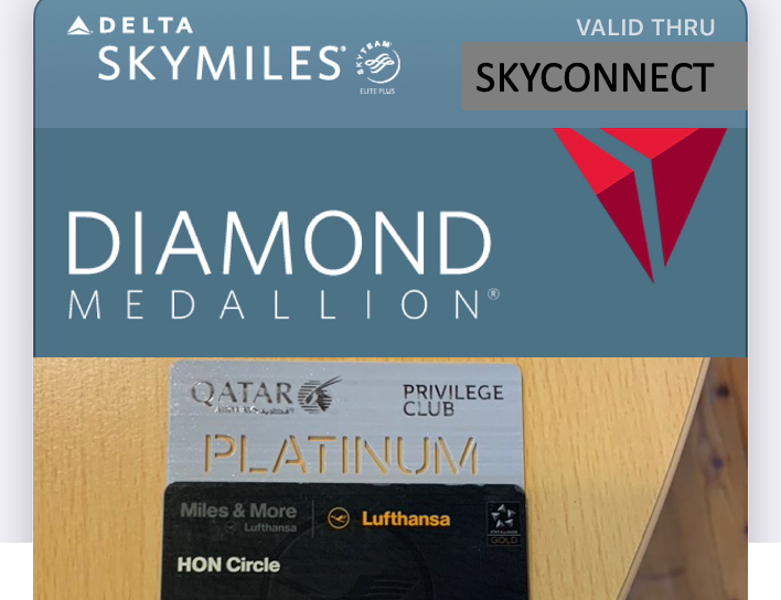 Delta Lufthansa Qatar Zoom valuation earn status miles without flying